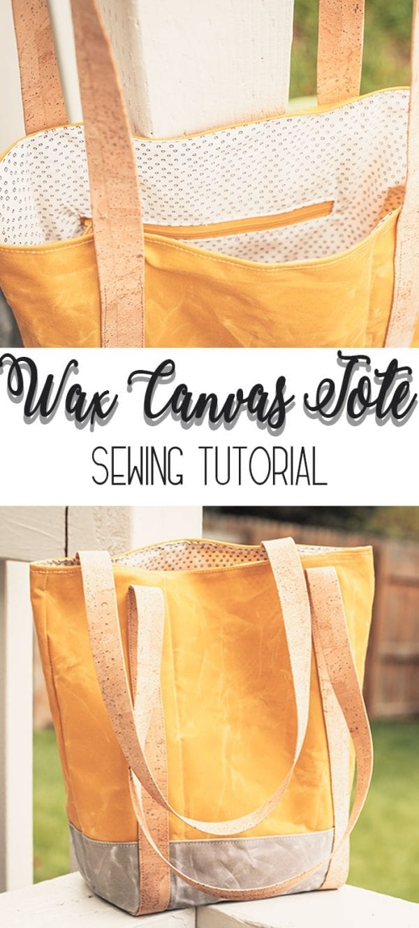 Sewing tutorial: Wax canvas tote bag