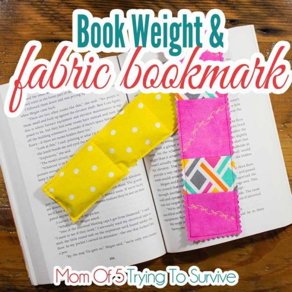 Sewing tutorial: Book weight and fabric bookmark