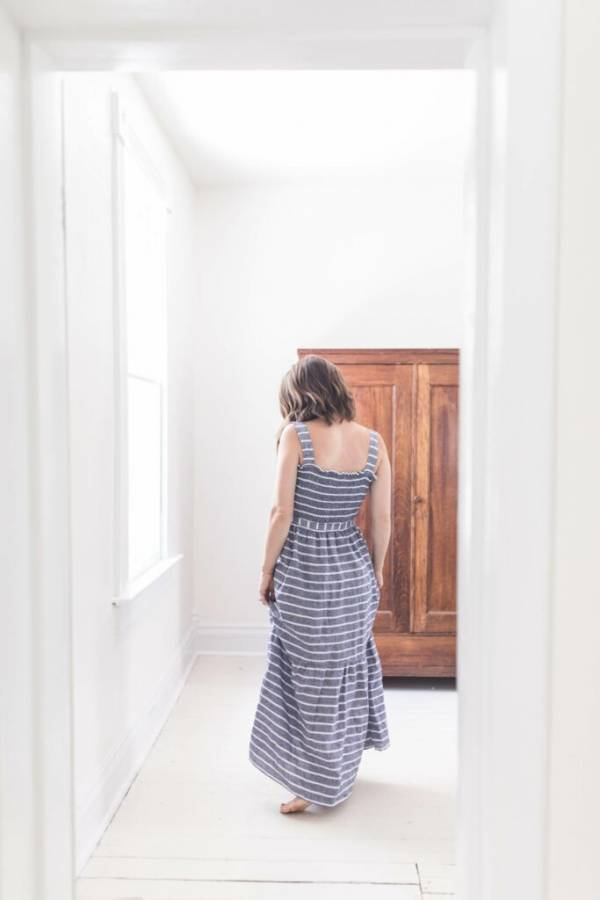 Sewing tutorial: Shirred maxi sundress