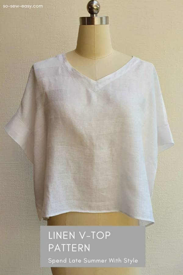 Free pattern: Women's linen summer top