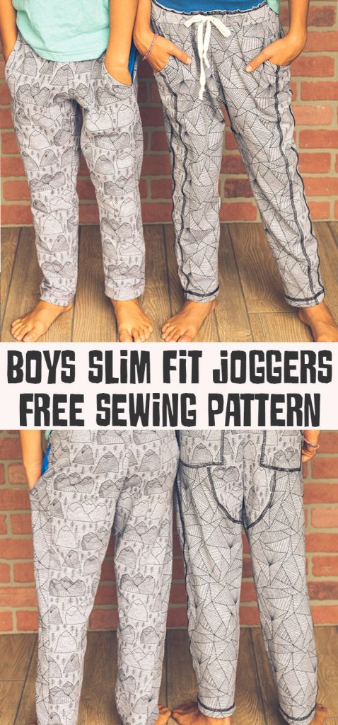 Free pattern: Kids slim fit jogger pants