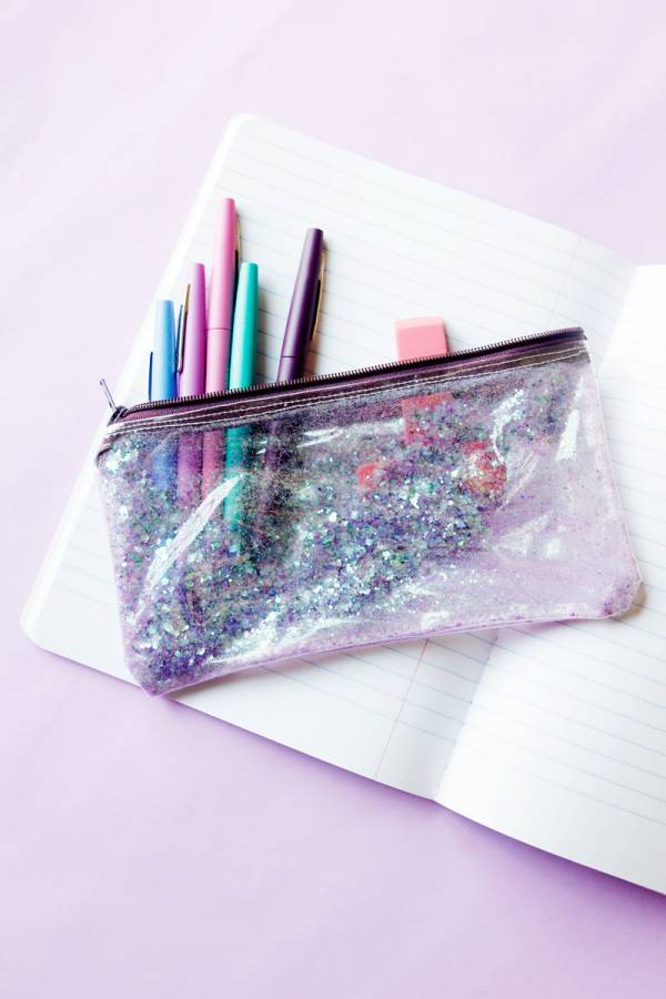 Sewing tutorial: Glitter pencil pouch