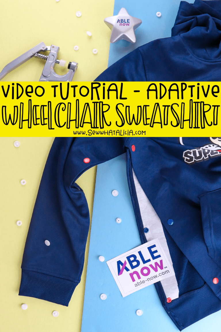 Tutorial: No-sew adaptive sweatshirt for wheelchair users