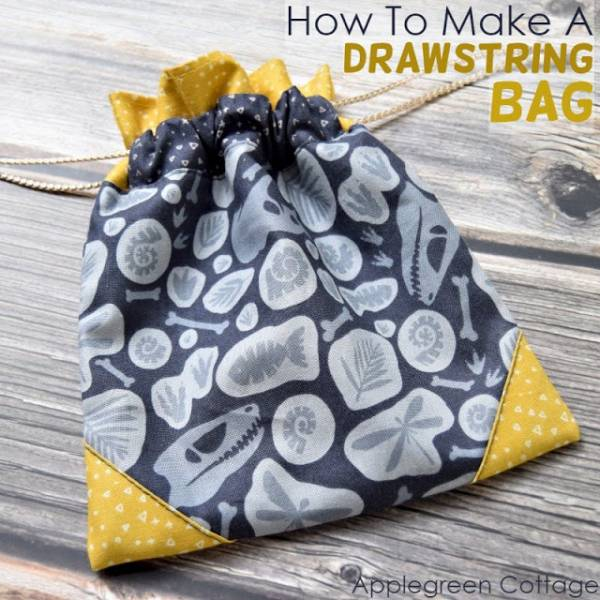 Sewing tutorial: Pretty drawstring bags