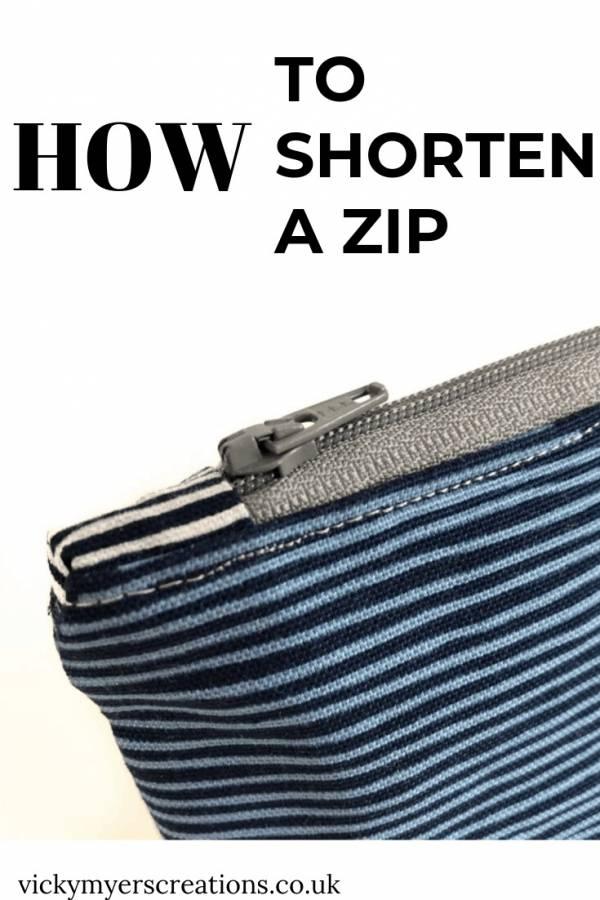 Sewing tutorial: How to shorten a zipper