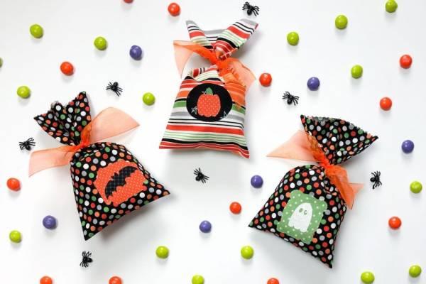 Sewing tutorial: Cute Halloween treat bags