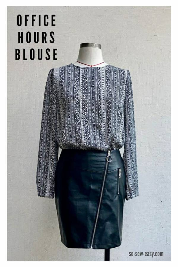 Free pattern: Long sleeve blouse for women