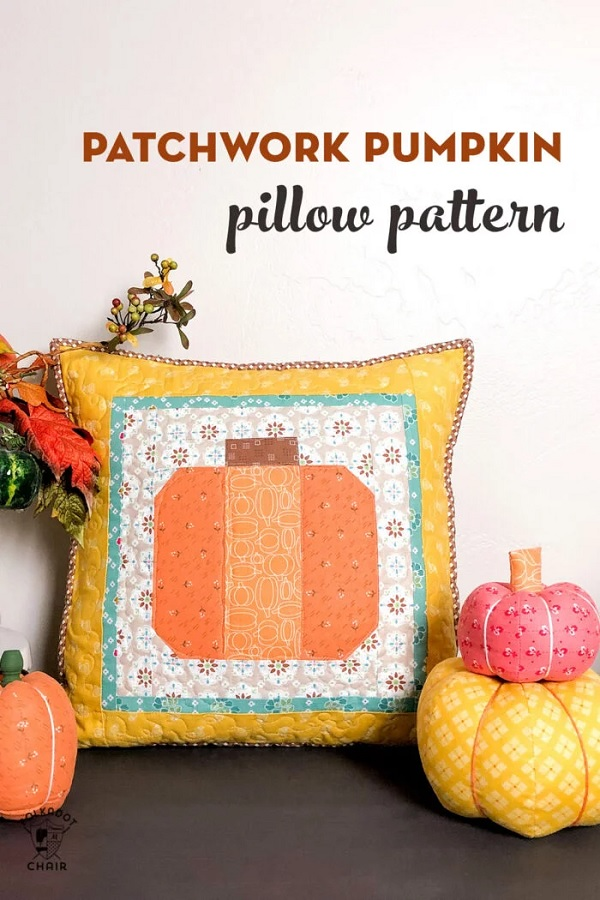 Sewing tutorial: Patchwork fall pumpkin pillow