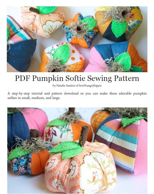 Free pattern: Patchwork fabric pumpkins