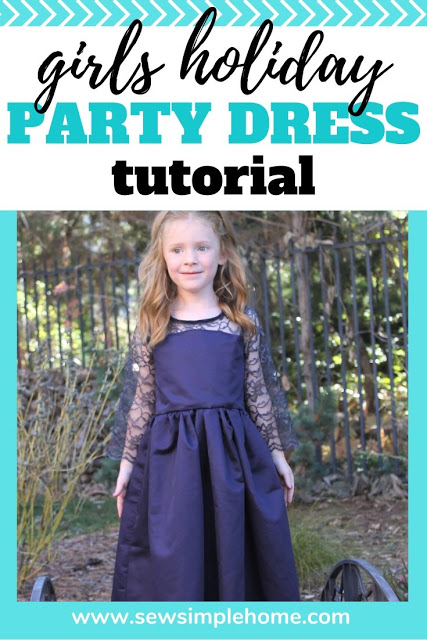 Sewing tutorial: Girls lace bodice party dress
