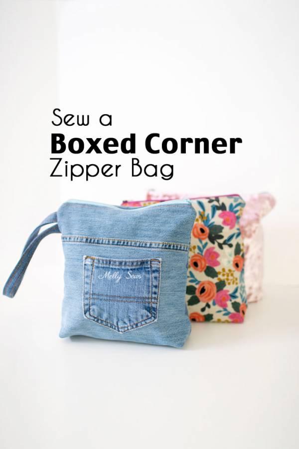 Sewing tutorial: Flat bottom zip bag