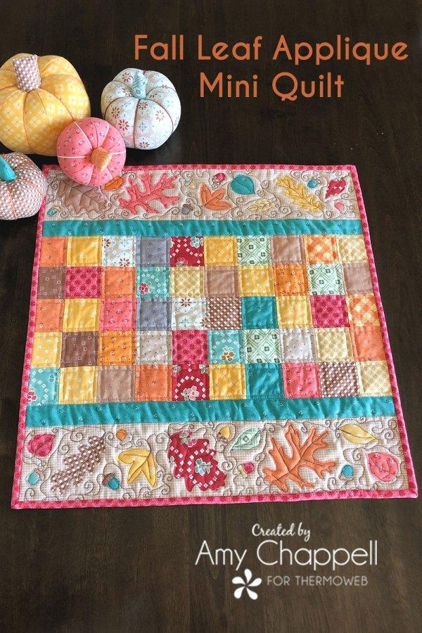 Sewing tutorial: Fall leaf mini quilt