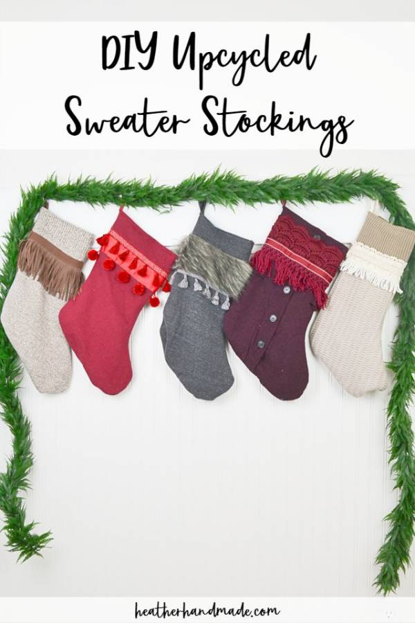 Sewing tutorial: Easy sweater stockings