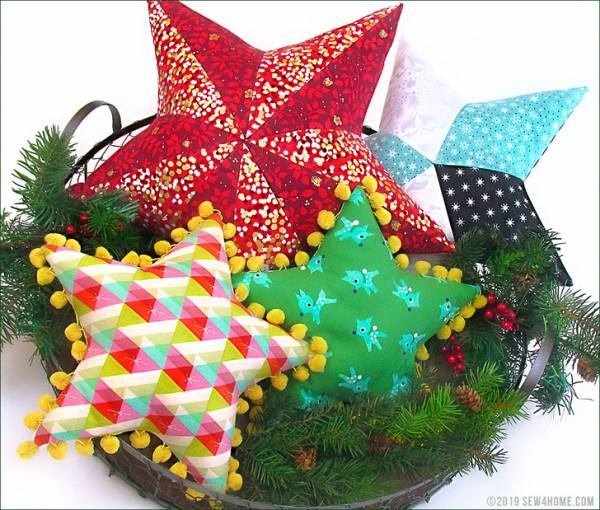 Sewing tutorial: Star shaped pillows
