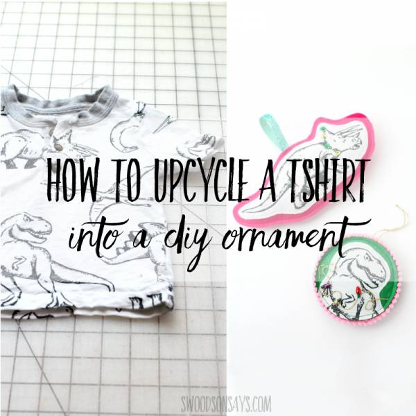 Sewing tutorial: Upcycled T-shirt Christmas ornaments
