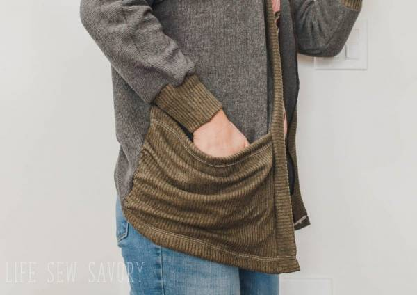 Sewing tutorial: Oversized pocket cardigan