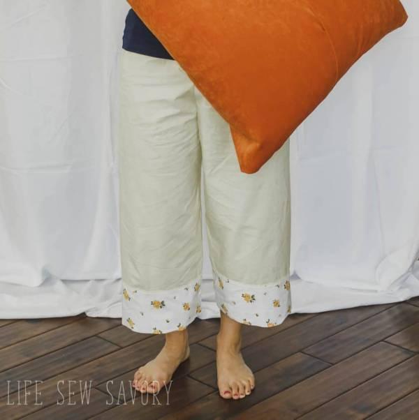 Free sewing pattern: Vintage sheet pajama pants