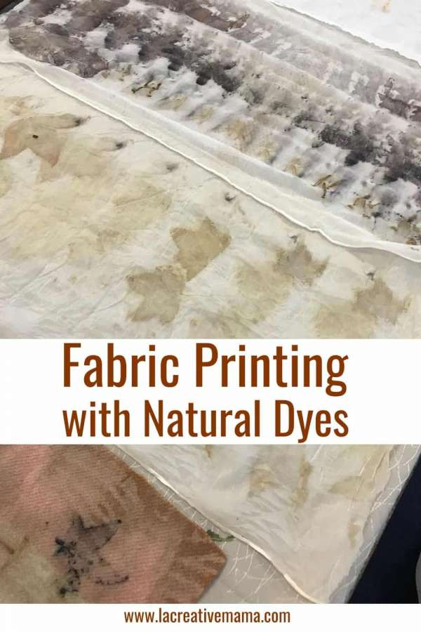 Eco Printing on Fabric With Natural Dyes