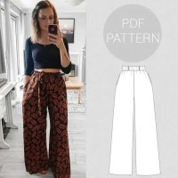 Sewing Pattern - Womens high-waist wide-leg trousers