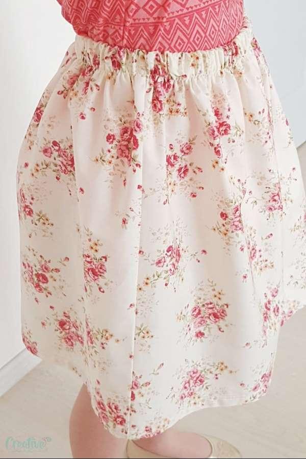 Simple Elastic Waist Skirt Easy Sewing Tutorial