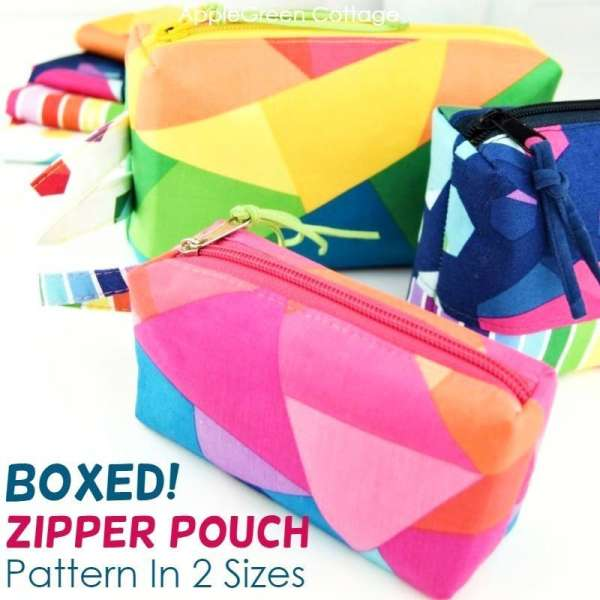 Boxy Zipper Pouch - Free Sewing Pattern in 2 Sizes