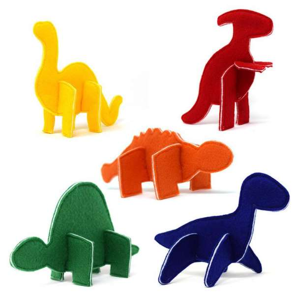 Felt puzzle dinosaur toys sewing pattern