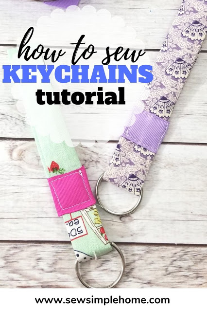 DIY Fabric Wrist Keychain Sewing Tutorial