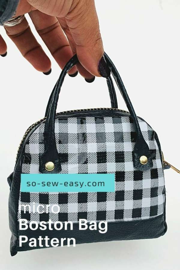 Micro Boston Bag Zipper Pouch - Free Sewing Pattern