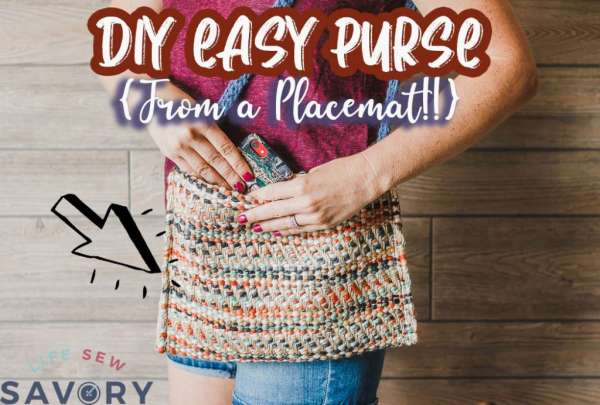 Easy Placemat Purse DIY Sewing Tutorial