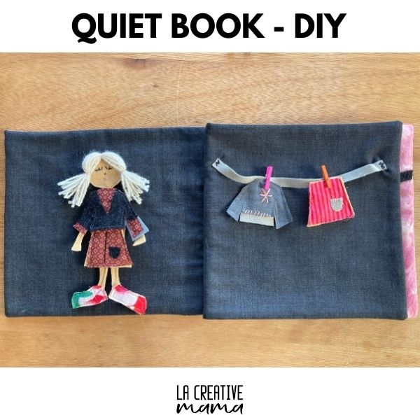 Doll Dress Up Quiet Book Page - Free Sewing Pattern