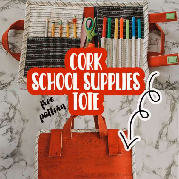 Free Sewing Pattern: School Supplies Tote