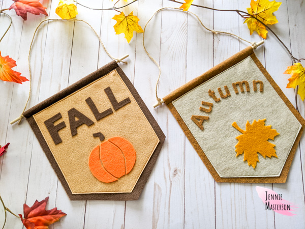 Easy Felt Fall Banner - Free Sewing Pattern