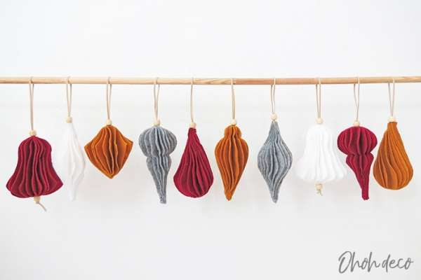 DIY Nordic Felt Ornaments Tutorial