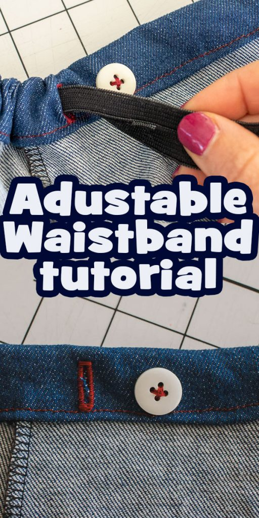 How to Make an Adjustable Elastic Waistband - Sewing Tutorial