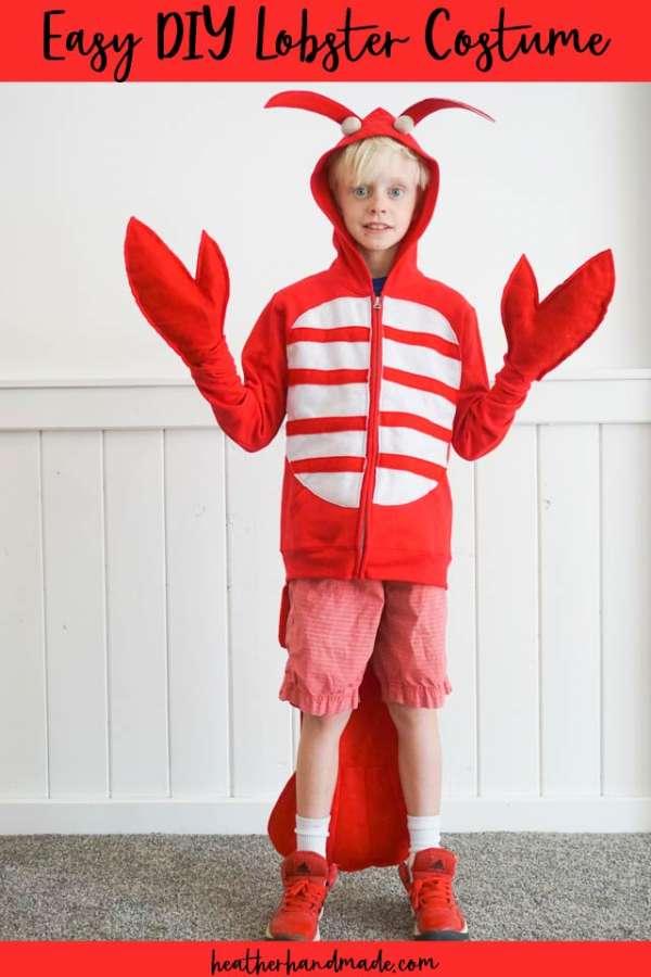 Lobster Costume from a Hoodie - DIY Sewing Tutorial