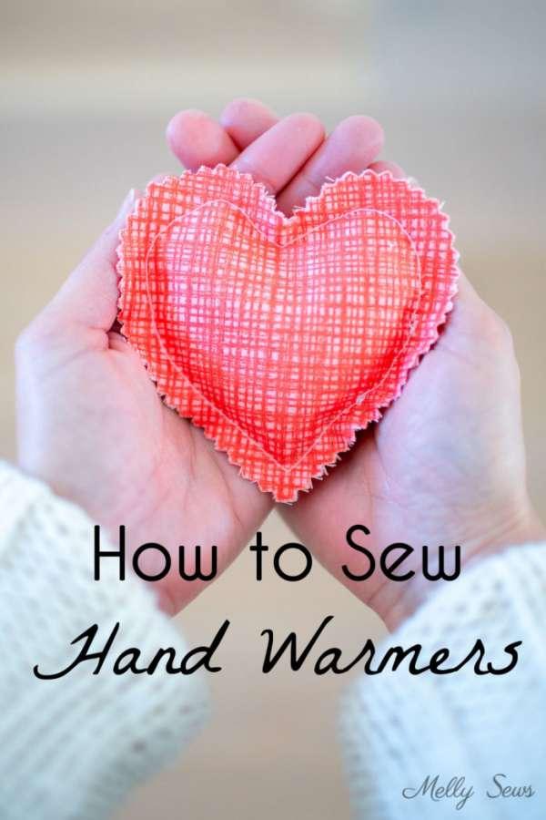 DIy Pocket  Handwarmers - Easy Sewing Tutorial