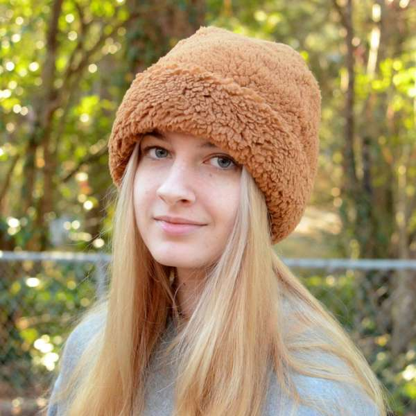 Fleece Beanie with Cuff - Free Sewing Pattern