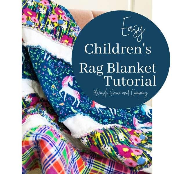 Easy Striped Rag Blanket - Sewing Tutorial