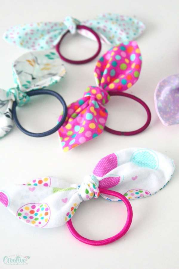 DIY Knotted Hair Ties - Easy Sewing Tutorial