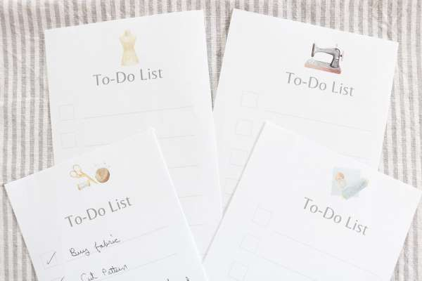 Free Printable Sewing Themed To-Do List