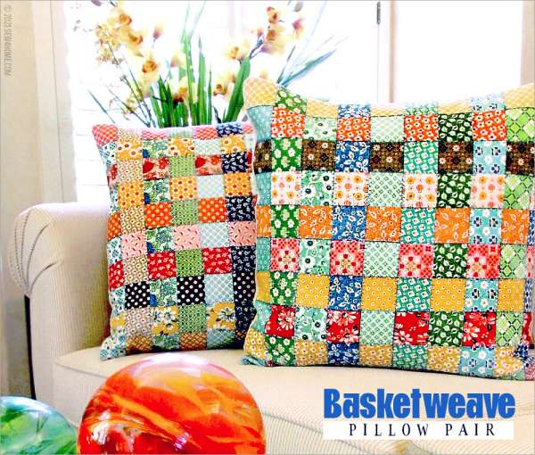 Basket Weave Throw Pillow Sewing Tutorial