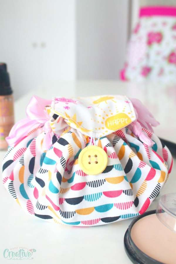 Drawstring Makeup Bag - Sewing Tutorial