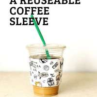 Reusable Fabric Coffee Sleeves - DIY Sewing Tutorial