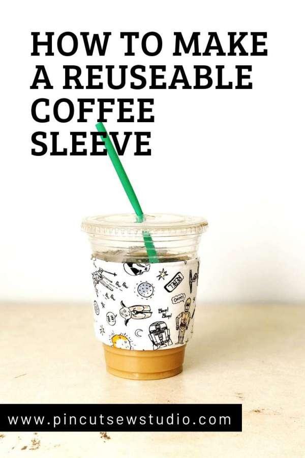 Reusable Fabric Coffee Sleeves - DIY Sewing Tutorial