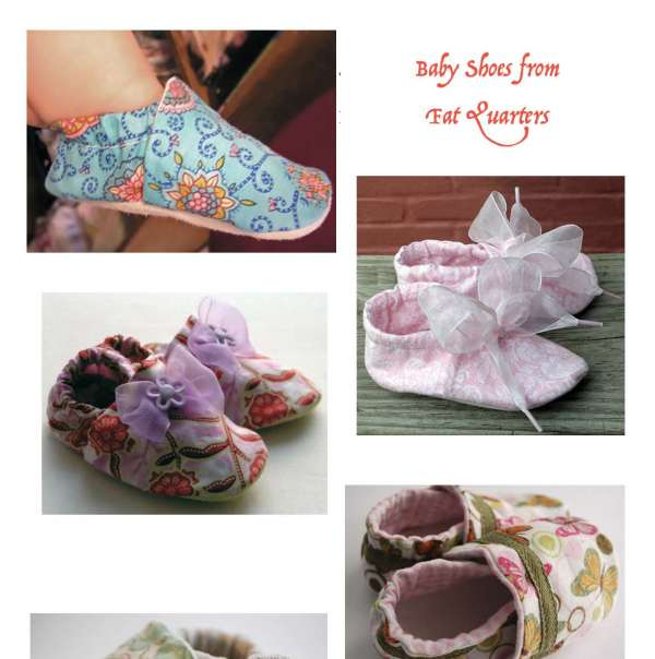 Baby shoes from fat quarters