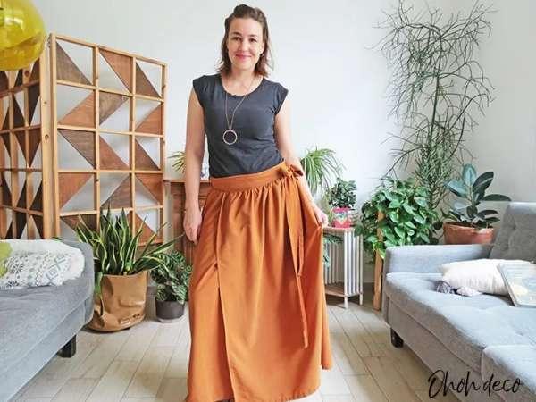 Easy to Sew Wrap Skirt