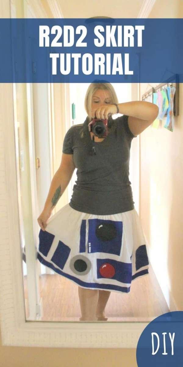 DIY R2D2 Skirt Sewing Tutorial