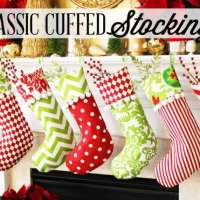 Classic Christmas Stocking with Cuff - Free Sewing Pattern