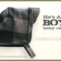 Upcycled Flannel Baby Hat - Free Sewing Pattern