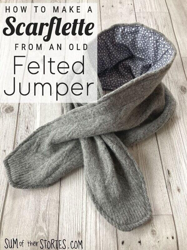 Upcycled Wool Scarflette DIY Sewing Tutorial